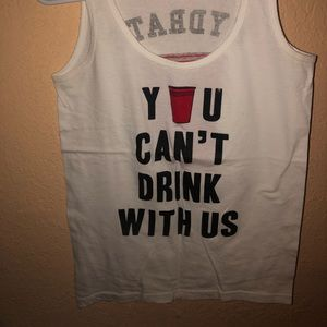 Tops - You can't drink with us tank 💁🏼‍♀️🔱